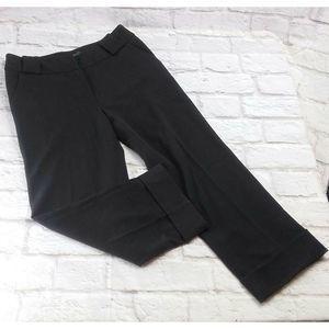 I.N.S.I.G.H.T Black Capri Cuffed Hem Cropped Pants
